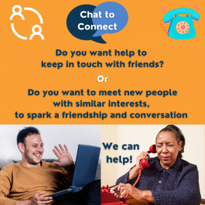 Do you want help to keep in touch with friends? OR Do you want to meet new people with similar interests, to spark a friendship or conversation